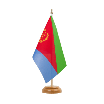 "Desk and Table Flag Eritrea - 6x9"" (15 x 22 cm), wooden"