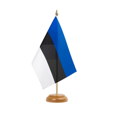 "Table Flag Estonia - 6x9"" (15 x 22 cm), wooden"