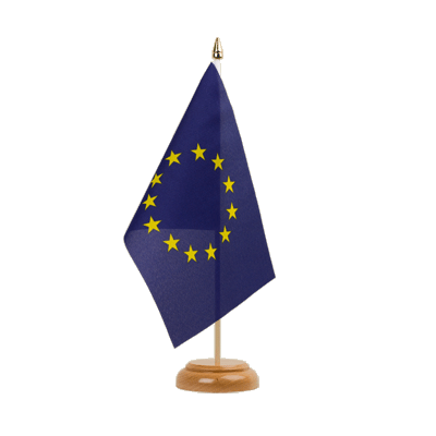 "Desk and Table Flag European Union EU - 6x9"" (15 x 22 cm), wooden"