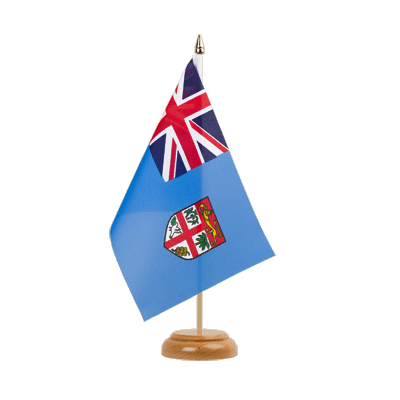 "Table Flag Fiji - 6x9"" (15 x 22 cm), wooden"
