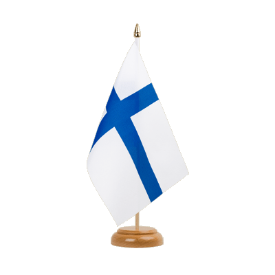 "Finland Table Flag 6x9"", wooden"