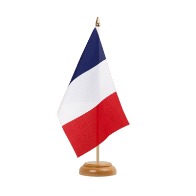 "France Table Flag 6x9"", wooden"