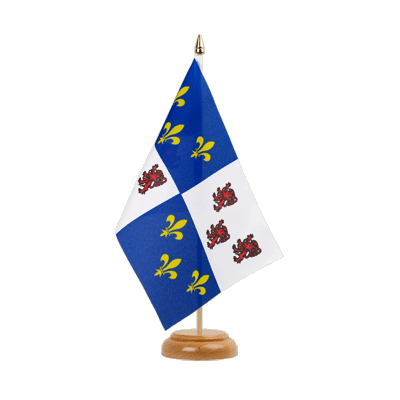 "Table Flag Picardie - 6x9"" (15 x 22 cm), wooden"