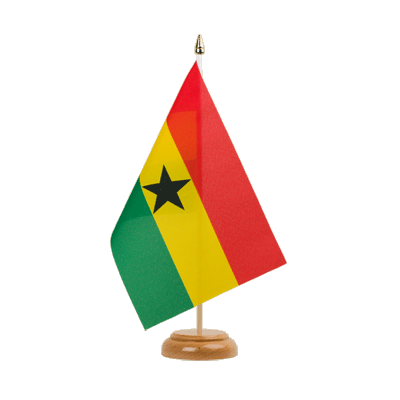 "Desk and Table Flag Ghana - 6x9"" (15 x 22 cm), wooden"