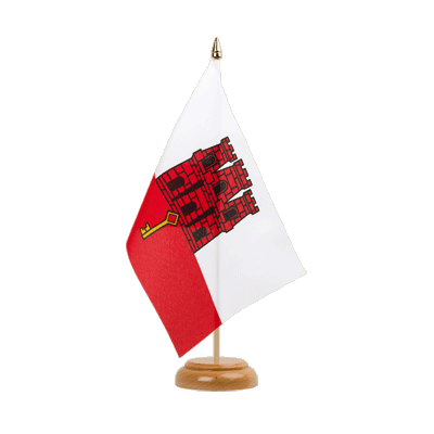 "Table Flag Gibraltar - 6x9"" (15 x 22 cm), wooden"