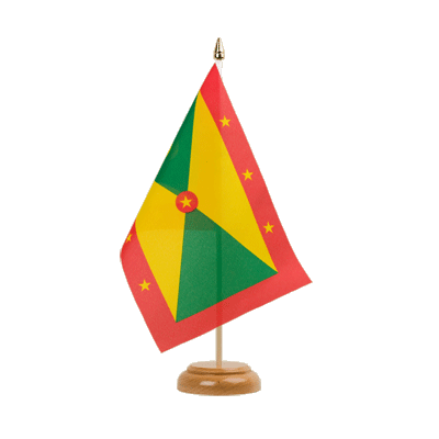 "Table Flag Grenada - 6x9"" (15 x 22 cm), wooden"