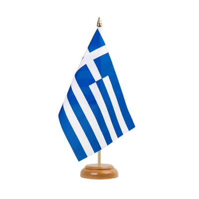 "Desk and Table Flag Greece - 6x9"" (15 x 22 cm), wooden"