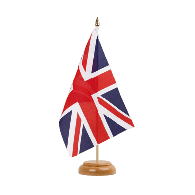 "Desk and Table Flag Great Britain - 6x9"" (15 x 22 cm), wooden"