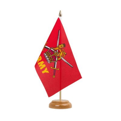 "British Army Table Flag 6x9"", wooden"