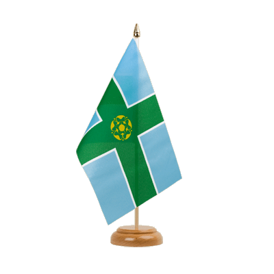 "Desk and Table Flag Derbyshire - 6x9"" (15 x 22 cm), wooden"