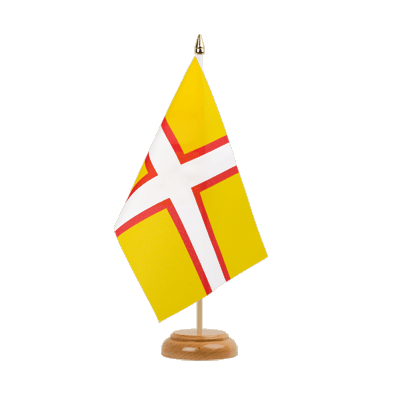 "Table Flag Dorset - 6x9"" (15 x 22 cm), wooden"
