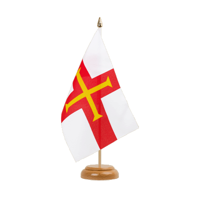 "Desk and Table Flag Guernsey - 6x9"" (15 x 22 cm), wooden"