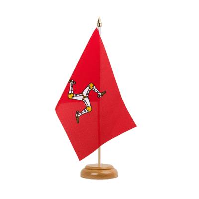 "Isle of man Table Flag 6x9"", wooden"