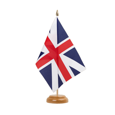 "Great Britain Kings Colors 1606 Table Flag - 6x9"" (15 x 22 cm), wooden"