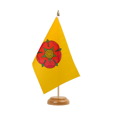 "Lancashire new Table Flag 6x9"", wooden"