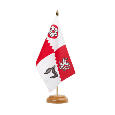 "Table Flag Leicestershire - 6x9"" (15 x 22 cm), wooden"