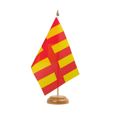 "Desk and Table Flag Northumberland - 6x9"" (15 x 22 cm), wooden"