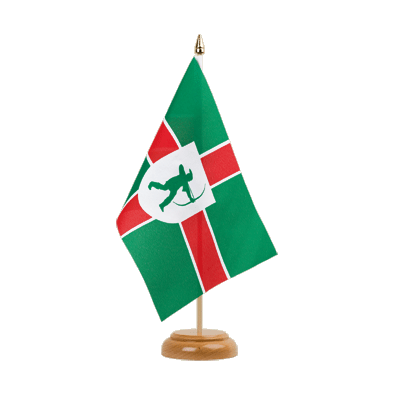 "Table Flag Nottinghamshire new - 6x9"" (15 x 22 cm), wooden"