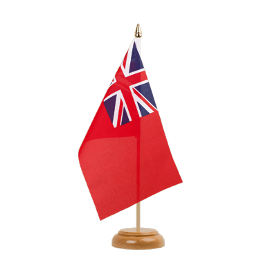 "Table Flag Red Ensign - 6x9"" (15 x 22 cm), wooden"