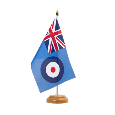 "Table Flag Royal Airforce - 6x9"" (15 x 22 cm), wooden"