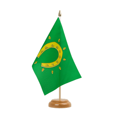 "Table Flag Rutland - 6x9"" (15 x 22 cm), wooden"