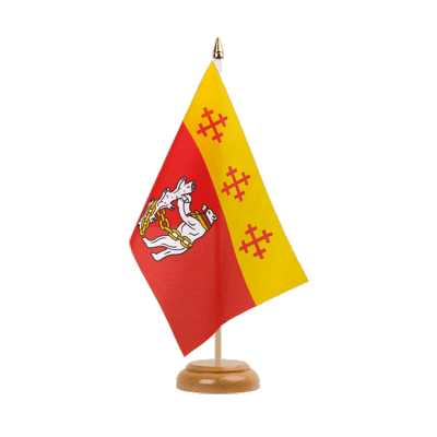 "Table Flag Warwickshire - 6x9"" (15 x 22 cm), wooden"