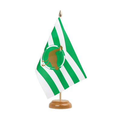 "Table Flag Wiltshire new - 6x9"" (15 x 22 cm), wooden"