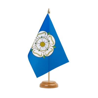 "Table Flag Yorkshire new - 6x9"" (15 x 22 cm), wooden"