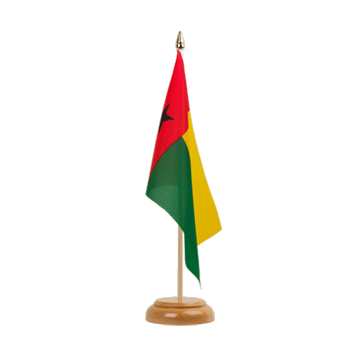 "Table Flag Guinea-Bissau - 6x9"" (15 x 22 cm), wooden"