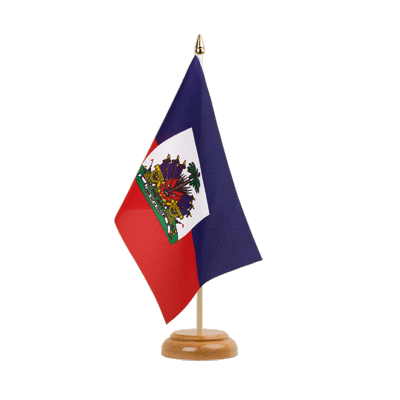 "Table Flag Haiti - 6x9"" (15 x 22 cm), wooden"