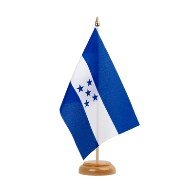 "Table Flag Honduras - 6x9"" (15 x 22 cm), wooden"
