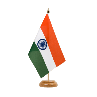 "Table Flag India - 6x9"" (15 x 22 cm), wooden"