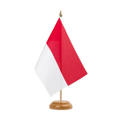 "Table Flag Indonesia - 6x9"" (15 x 22 cm), wooden"