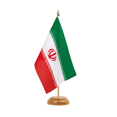 "Table Flag Iran - 6x9"" (15 x 22 cm), wooden"