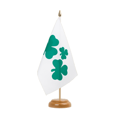 Drapeau de table Shamrock 15x22 cm, bois