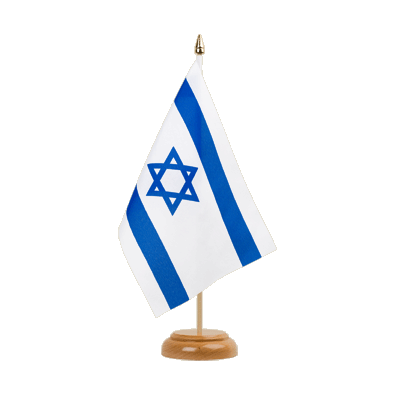 "Israel Table Flag 6x9"", wooden"