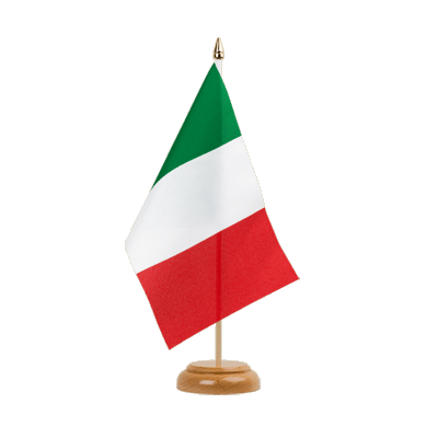 "Desk and Table Flag Italy - 6x9"" (15 x 22 cm), wooden"