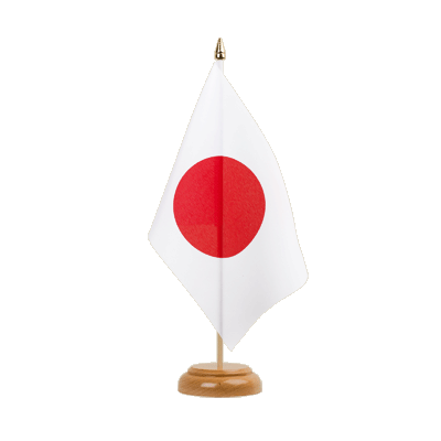 "Desk and Table Flag Japan - 6x9"" (15 x 22 cm), wooden"