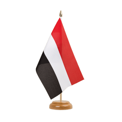 "Desk and Table Flag Yemen - 6x9"" (15 x 22 cm), wooden"