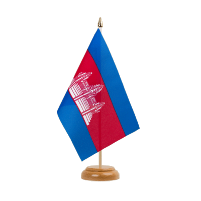 "Table Flag Cambodia - 6x9"" (15 x 22 cm), wooden"