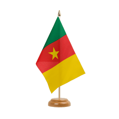 "Table Flag Cameroon - 6x9"" (15 x 22 cm), wooden"