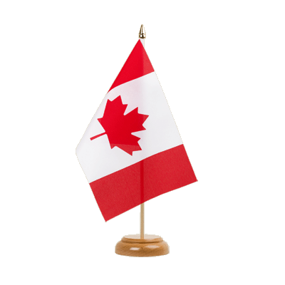 "Table Flag Canada - 6x9"" (15 x 22 cm), wooden"