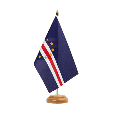 "Table Flag Cape Verde - 6x9"" (15 x 22 cm), wooden"