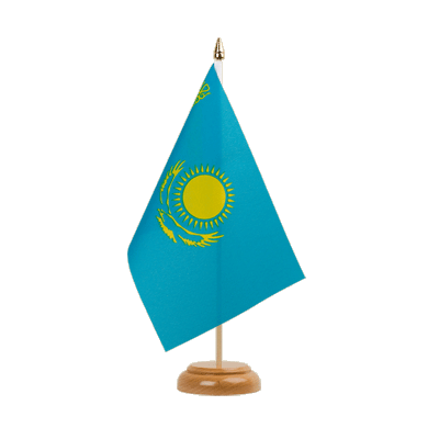 "Desk and Table Flag Kazakhstan - 6x9"" (15 x 22 cm), wooden"