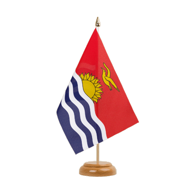 "Table Flag Kiribati - 6x9"" (15 x 22 cm), wooden"