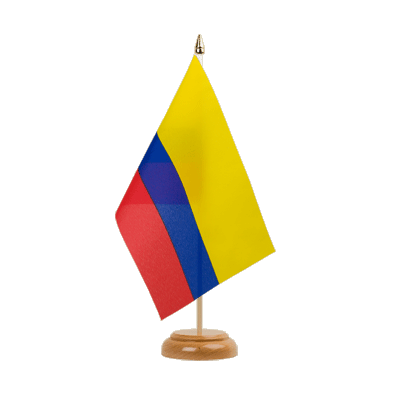 "Table Flag Colombia - 6x9"" (15 x 22 cm), wooden"
