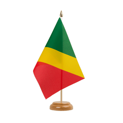 "Desk and Table Flag Congo - 6x9"" (15 x 22 cm), wooden"