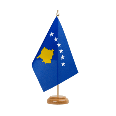 "Desk and Table Flag Kosovo - 6x9"" (15 x 22 cm), wooden"