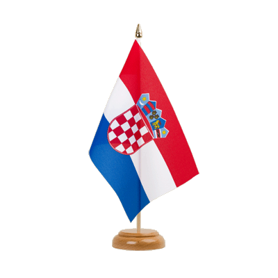 Drapeau de table Croatie 15x22 cm, bois