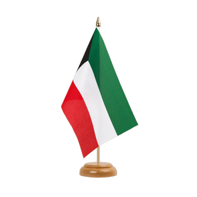 "Kuwait Table Flag 6x9"", wooden"
